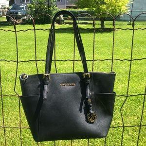 Michael Kors Black Shoulder Tote Bag